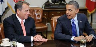 House Speaker John Boehner and President Barack Obama (Getty Images)