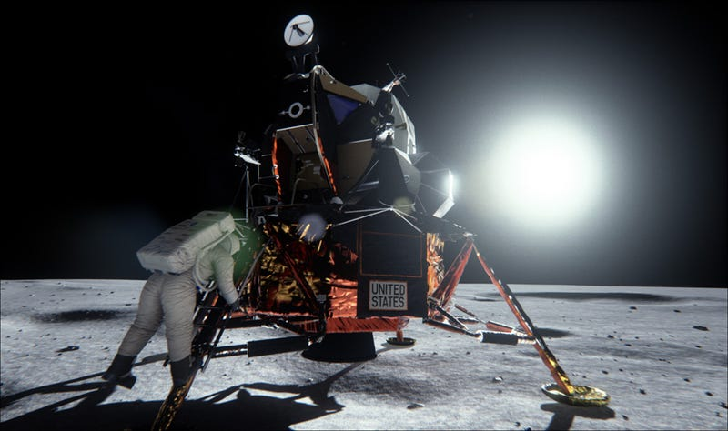 Illustration for article titled Meticulous Visual Recreation Of Moon Landing Shows It Wasn't A Hoax