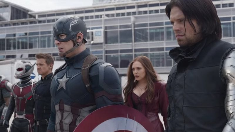 Illustration for article titled Captain America: Civil War to have several movies' worth of post-credits scenes