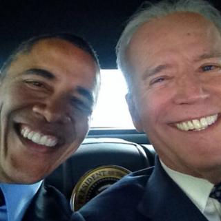 Illustration for article titled Joe Biden Posts the Best Selfie of All Time with Barack Obama