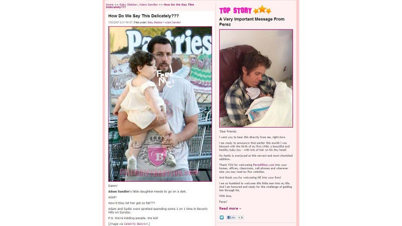 Illustration for article titled Perez Hilton Will Have So Many Interesting Things to Teach His Son Someday