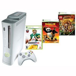 Illustration for article titled Dealzmodo: Xbox 360 Pro with Three Games for $284 Shipped Today Only