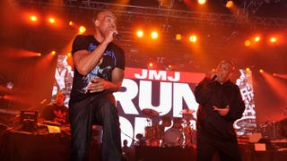 Darryl McDaniels and Joseph Simmons of Run-DMC perform onstage in New York City Jan. 30, 2014. Stephen Lovekin/Getty Images for Bud Light