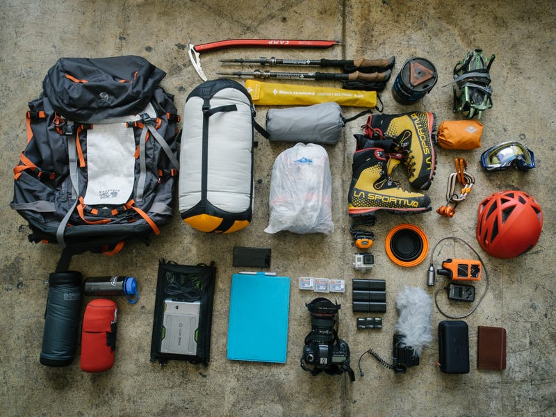 What Clothes Computer Ice Axe And Backpack Does A Photographer Writer For An Adventure Travel Site Fall Back On When Hes Going To Be Up