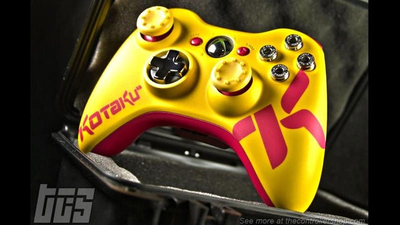 Illustration for article titled The Controller Shop's Custom Kotaku 360 Pad is a Thing of Beauty