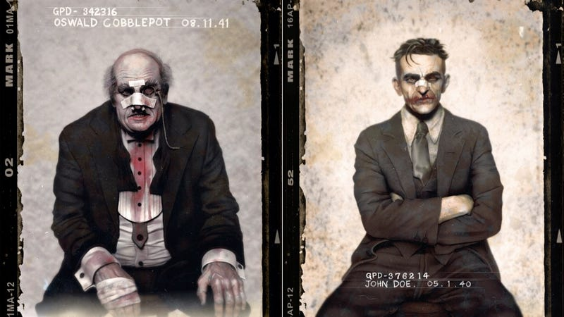 Illustration for article titled Batman villains captured in 1940s mugshots are fantastically dapper