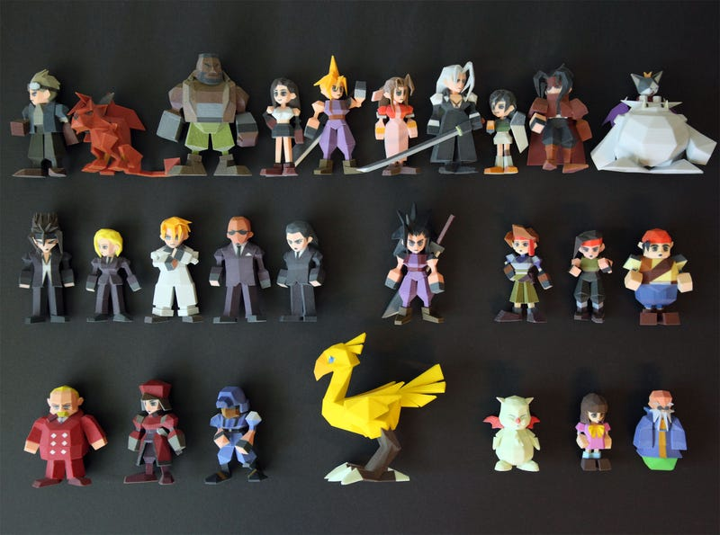 Square Enix Puts 3d Printed Final Fantasy Figures Out Of Business
