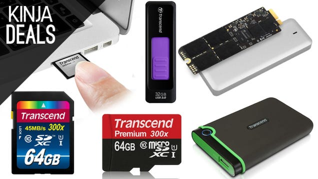Tons of Transcend Storage is On Sale Today, Including MacBook Upgrades