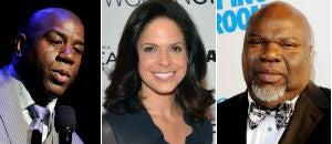 Magic Johnson (Getty); Soledad O'Brien (Getty); T.D. Jakes (Getty)