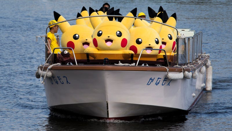 Illustration for article titled Watch as thousands of happy Pikachus dance across this Japanese city