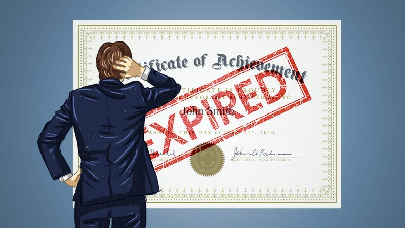 Illustration for article titled Should I Let a Certification Expire If I Don't Work With It Anymore?
