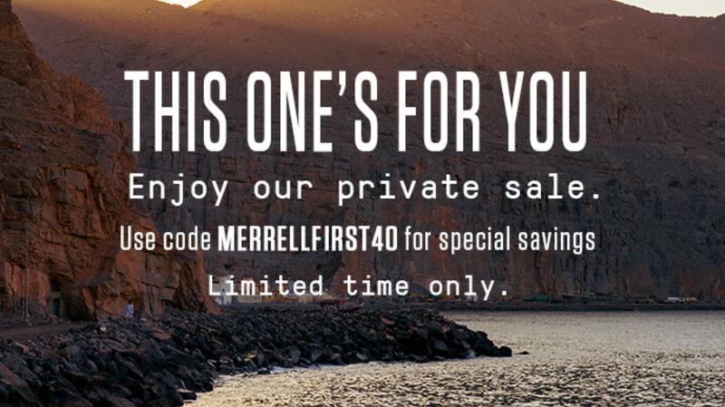Rebajas Privadas de Merrell | Merrell | Productos con un 40% de descuento adicional con el código MERRELLFIRST40. Para otros usa el código SAVE20SALE con el 20%Imagen: Merrell