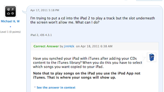 """Illustration for article titled """"How do I insert a CD to the iPad 2?"""""""