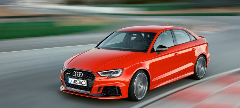 Illustration for article titled Take The Kids To School Real Damn Fast In The Audi RS3 Sedan For Just $54,900