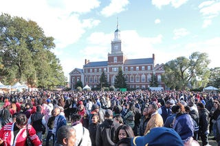 On Howard University's campus in front of the infamous Founders Library Clock Tower on Oct. 22, 2016, in Washington, D.C. (Cheriss May/NurPhoto via Getty Images)