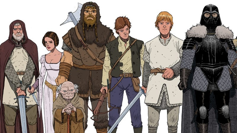 Star Wars Goes Medieval in This Clever Art Print