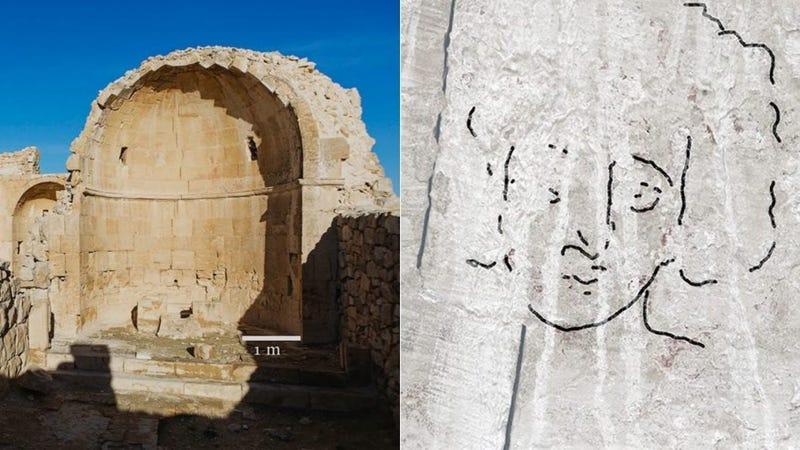 Illustration for article titled Aparece en una antigua iglesia de Israeluna representación del rostro de Jesús muy diferente a la que estábamos acostumbrados