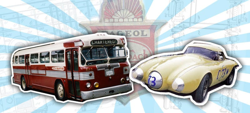 Illustration for article titled The Craziest Twin-Engined Racing Cars Were Made By A Bus Company