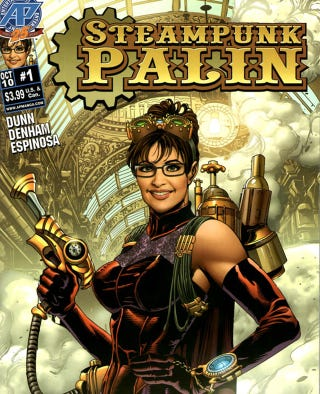 Illustration for article titled WTF: The Sarah Palin Steampunk Comic Book