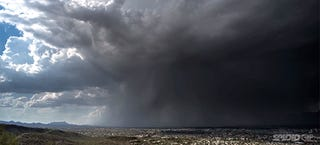 This wet microburst is like the sky turning on a giant faucet