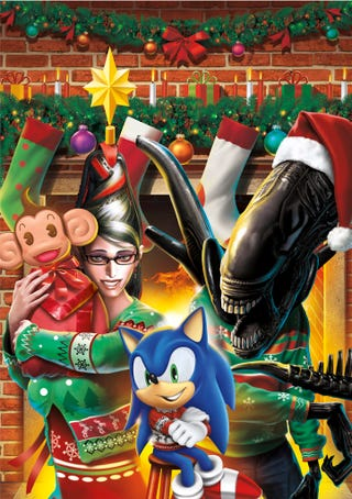 Illustration for article titled Happy Holidays Is Bayonetta in a Christmas Sweater