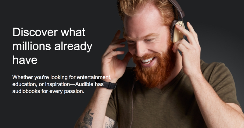 $25 Amazon Credit With Audible Membership, Prime Members Only
