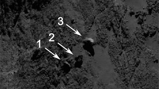 Illustration for article titled The Mysterious Balancing Boulders Of Rosetta's Comet