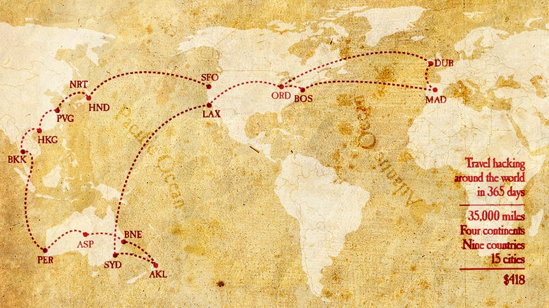 Illustration for article titled How to Travel Around the World for $418