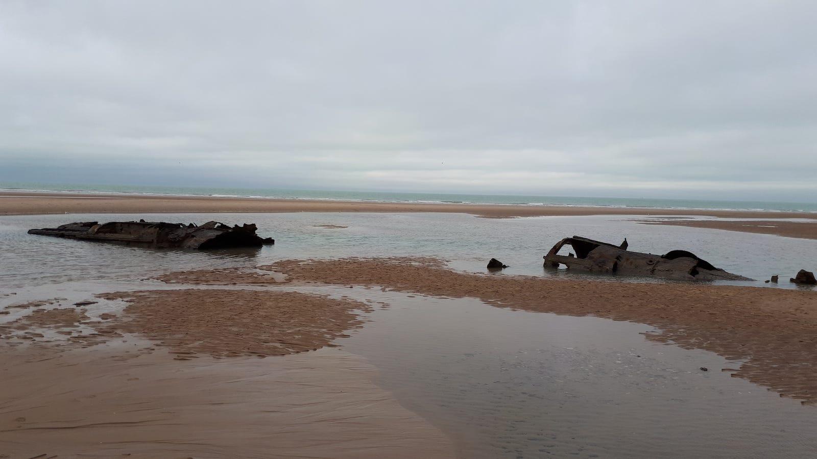 photo image World War I-Era German Submarine Resurfaces From the Sand Near French Coast