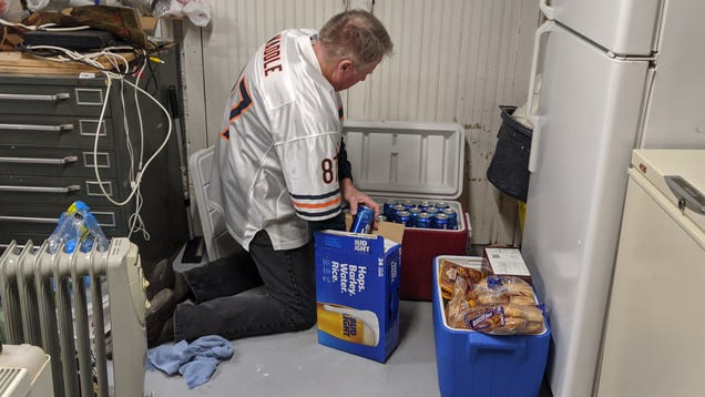NFL Game Day Prepper Stockpiles Coolers Of Bud Light, Hundreds Of Pounds Of Grilled Meat In Underground Bunker