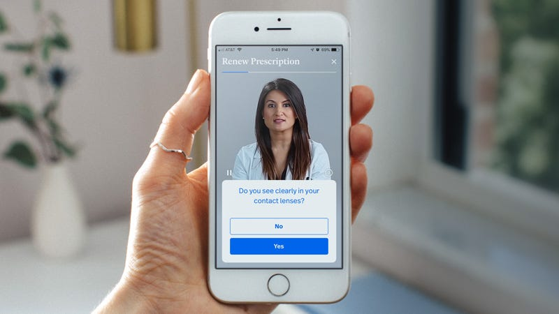 Illustration for article titled Download The Simple Contacts App To Renew Your Lens Prescription In Minutes ($20 Off)