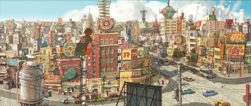 Illustration for article titled Background Art From Tekkonkinkreet Is Beautiful And Haunting