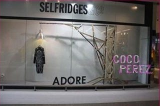 Illustration for article titled Selfridges Takes Down Tasteless Alexander McQueen Hanging Display