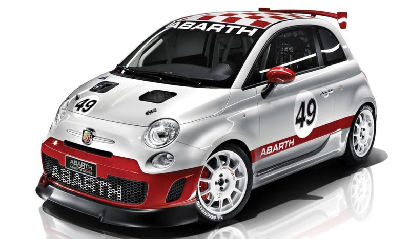 Illustration for article titled Abarth To Run Competition Starring Ultra Cute 500 Race Cars