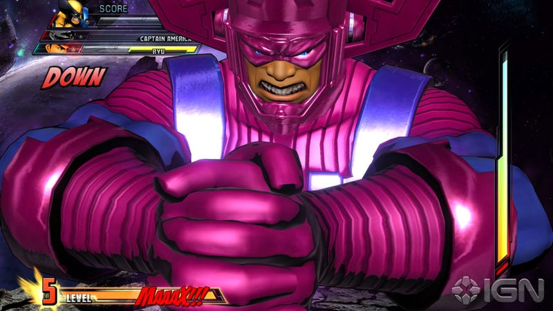 Illustration for article titled How The Marvel Vs. Capcom 3 Galactus Fight Goes Down