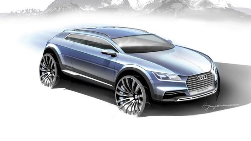 Illustration for article titled Audi Teases Concept That's So Exciting It Doesn't Have A Name
