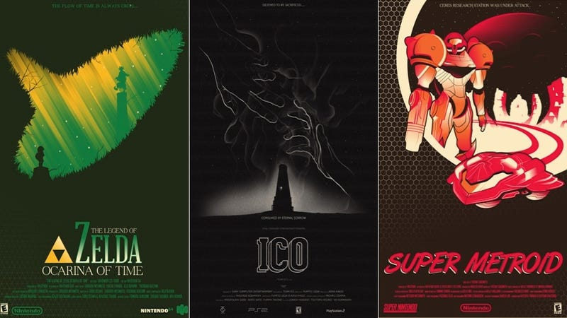 Illustration for article titled I Really Wish These Zelda And Ico Movie Posters Were Real