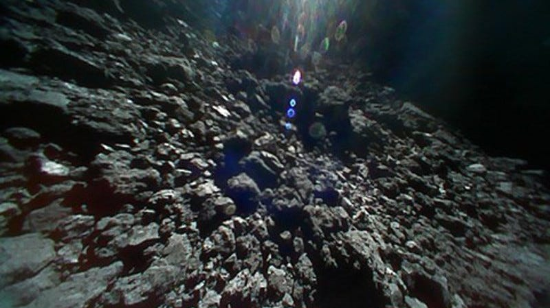 A shot of the surface of Ryugu, taken by Rover-1B on September 23, 2018.