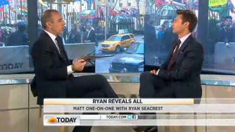 Illustration for article titled Matt Lauer Asks Ryan Seacrest If Ryan Seacrest Is Replacing Him on Today