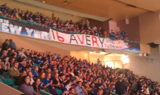 Illustration for article titled Sean Avery Made An Appearance at Madison Square Garden
