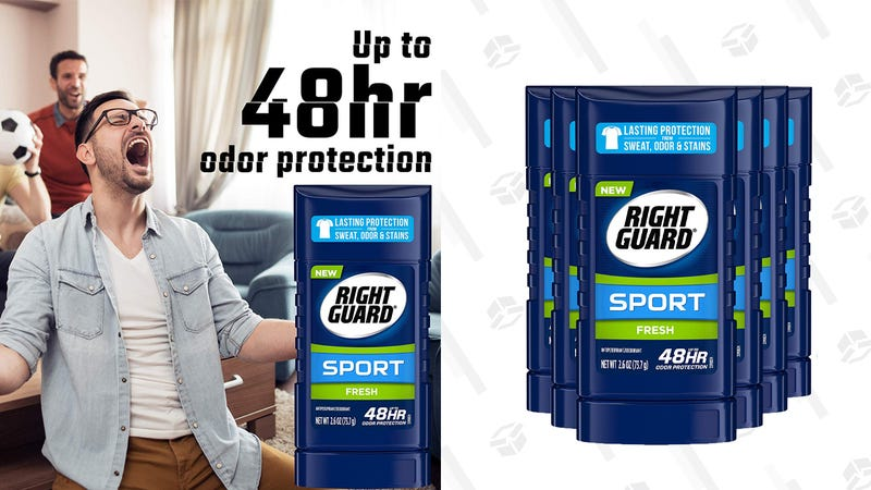 Right Guard Sport Antiperspirant Deodorant Invisible Solid Stick, Fresh, 2.6 Ounce (Pack of 6) | $10 | Amazon | Clip coupon code