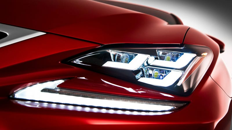 Illustration for article titled The Lexus RC's Headlights Are Amazingly Weird