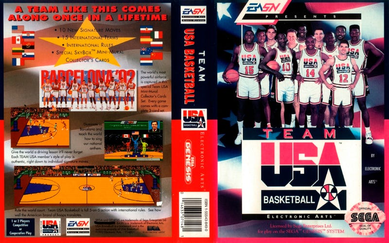 Illustration for article titled NBA 2K13 Isn't the First to Feature the Dream Team. This Genesis Game Is.