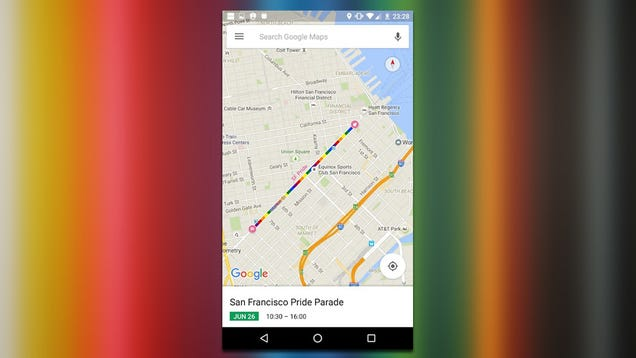 Google Maps Adds Pride Parade Routes to Traffic Data This Weekend