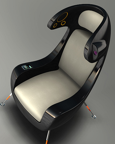 Exceptionnel This Sweet Looking Ergonomic Media Chair Is But A Concept In The Mind Of  Industrial Designer, Martin Emila, But I Dig The Look, And The Integrated  ...