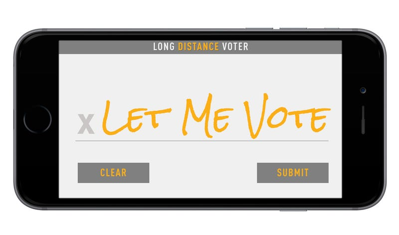 Illustration for article titled This Idea to Get America to Vote By Smartphone Just Might Work