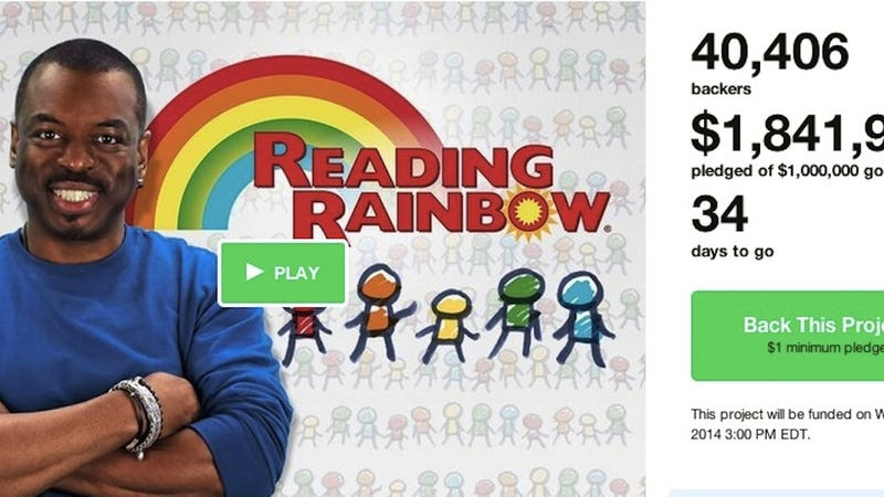 Illustration for article titled Brace for the Backlash to the Reading Rainbow Kickstarter!