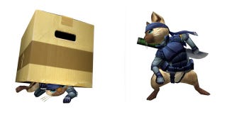 Illustration for article titled This Cat Is Going Stealth, Metal Gear Stealth