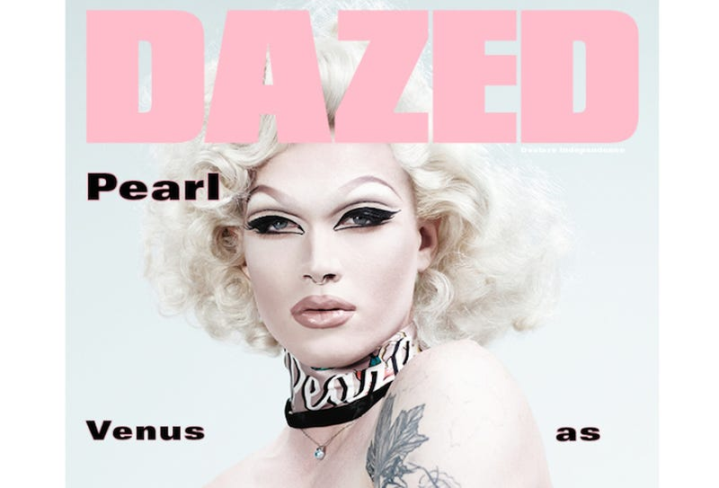 Illustration for article titled Drag Race's Pearl Has Floated From Heaven to Grace the Cover of Dazed