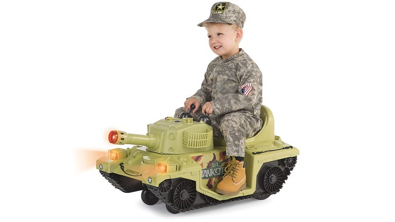 Illustration for article titled Wage a War On Afternoon Naps With This Tiny Ride-on Tank